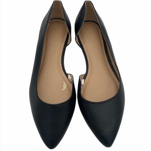 Mossimo black pointed toe flats